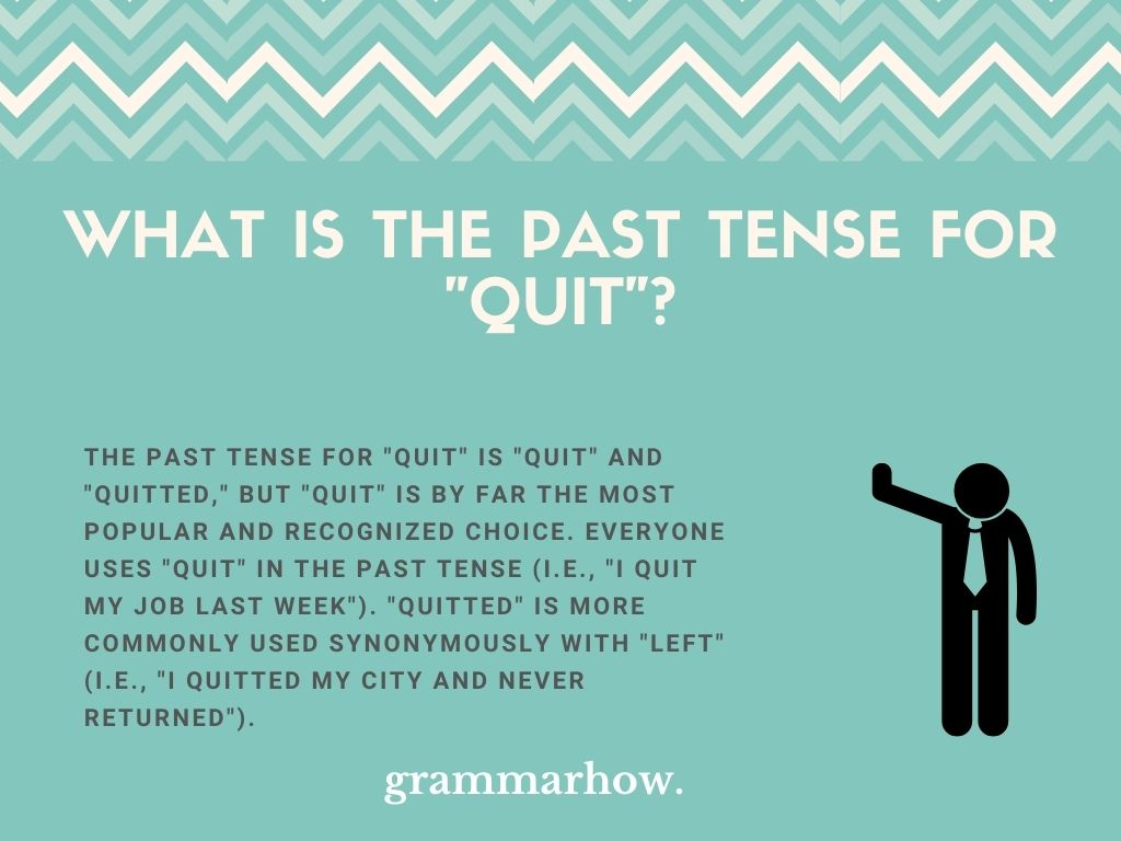 """What Is The Past Tense For """"Quit""""?"""