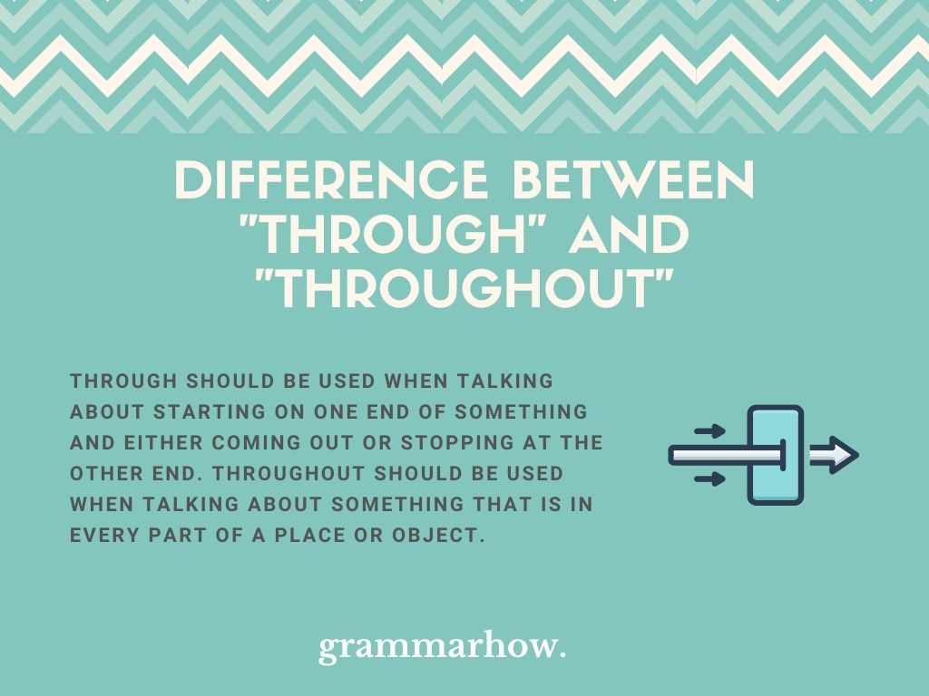"""What Is The Difference Between """"Through"""" And """"Throughout""""?"""
