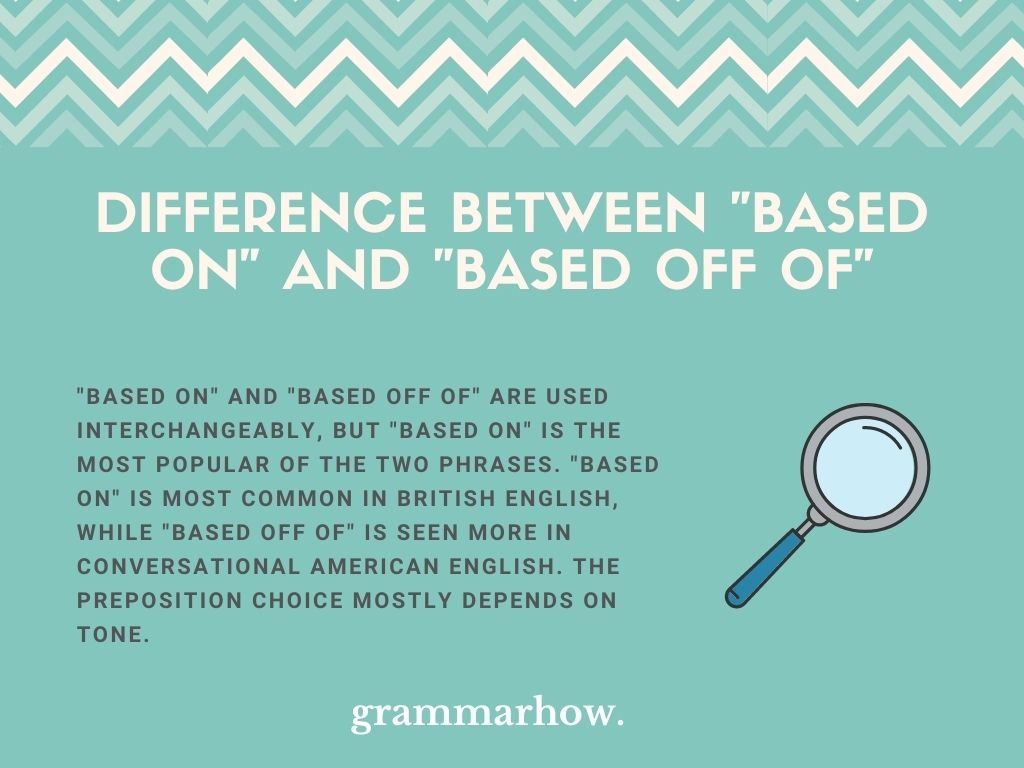 """What Is The Difference Between """"Based On"""" And """"Based Off Of""""?"""